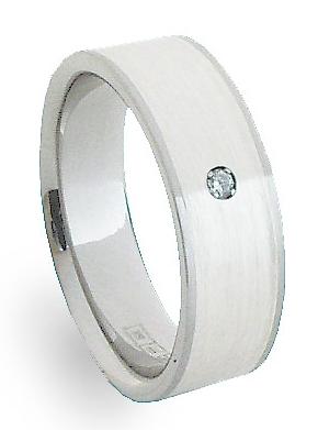 Snubní Ocelový prsten se stříbrem ZAG06701 (Snubní Ocelový prsten se stříbrem ZAG06701)