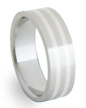 Snubní Ocelový prsten se stříbrem ZAG06800 (Snubní Ocelový prsten se stříbrem ZAG06800)