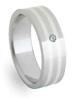 Snubní Ocelový prsten se stříbrem ZAG06801 (Snubní Ocelový prsten se stříbrem ZAG06801)