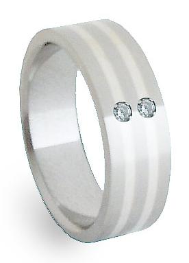 Snubní Ocelový prsten se stříbrem ZAG06852 (Snubní Ocelový prsten se stříbrem ZAG06852)