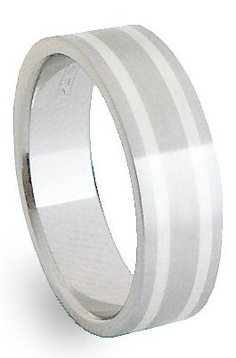 Snubní Ocelový prsten se stříbrem ZAG06900 (Snubní Ocelový prsten se stříbrem ZAG06900)