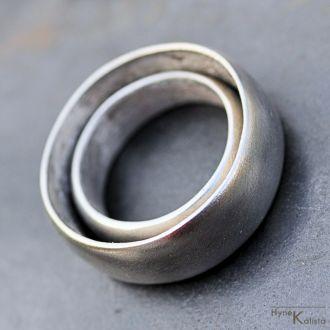 Kovane Nerezove Snubni Prsteny Hladke