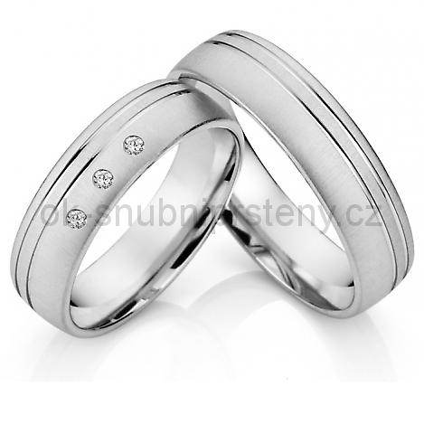 Snubní prsteny z chirurgické oceli OC1015B (Snubní prsteny OC1015B)