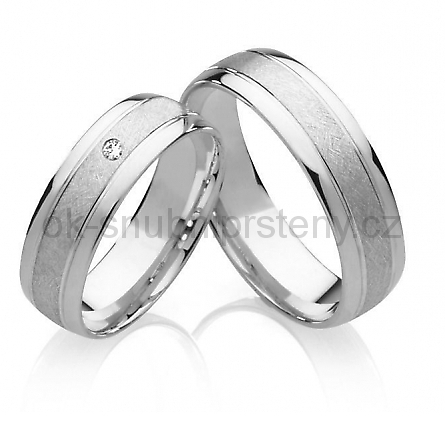 Snubní prstýnky z chirurgické oceli OC1020 (Snubní prsteny OC1020)