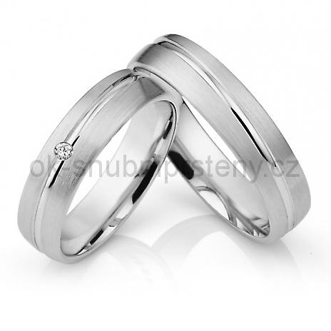 Snubní prstýnky z chirurgické oceli OC1021B (Snubní prsteny OC1021B)