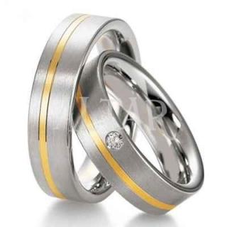 Titanove Snubni Prsteny Se Zlatem Ok Snubniprsteny Cz
