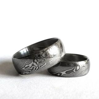 Kovane Snubni Prsteny Z Damaskove Oceli Ok Snubniprsteny Cz