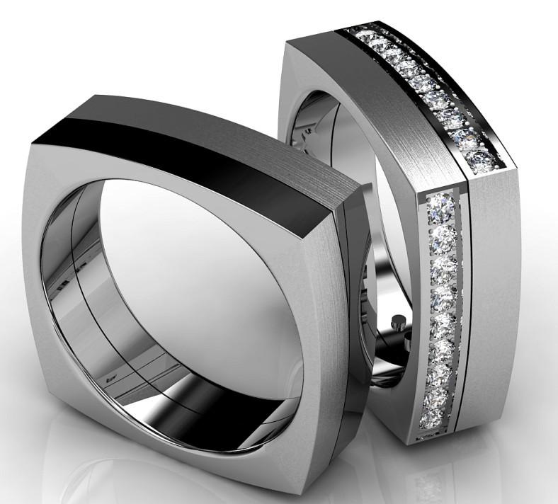 Snubní prsteny z chirurgické oceli OC1083