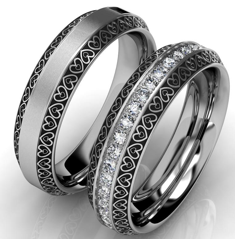Snubní prsteny z chirurgické oceli OC1084